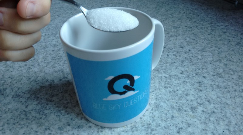 How much sugar can be dissolved in a cup of tea?